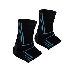Спортивные бандажи на голеностоп Power System Ankle Support Evo PS-6022 Black/Blue L