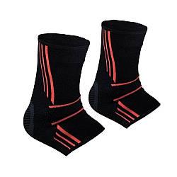 Спортивные бандажи на голеностопPower System Ankle Support Evo PS-6022 Black/Orange XL