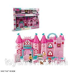 Замок 16830A (12шт) свет,звук,куколки,мебель,аксес,в кор.54,5*8*43 см