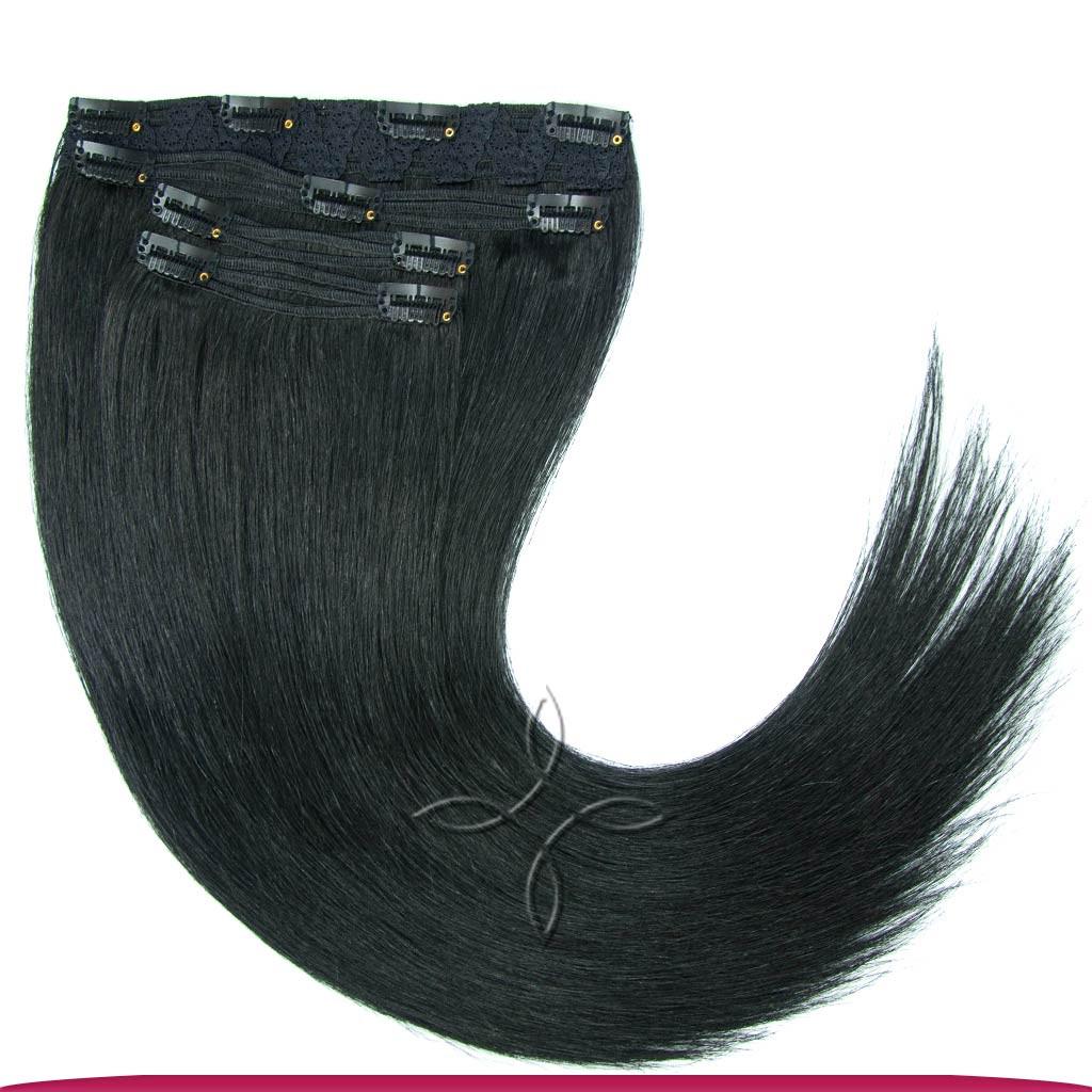 Натуральные Славянские Волосы на Заколках 65-70 см 115 грамм, Черный №01