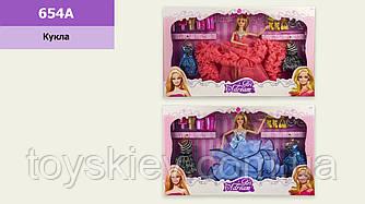 Лялька 654A(1755690) (24шт|2) з сукнями та аксесуарами, 2 види, лялька - 29см, в кор. 54*6*33см