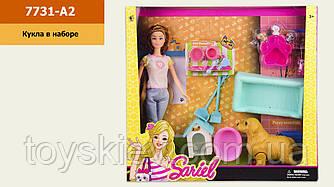 Кукла  7731-A2(1791291) (36шт|2) собака,аксессуары,в кор.36.5*7*34 см, р-р игрушки – 29 см