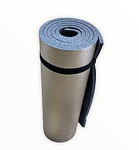 Каремат туристический, серый фольгированный, т. 8 мм, размер 50х180 см, производитель Украина, TERMOIZOL®