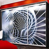 ШКАФ-КУПЕ на заказ с рисунком на стекле