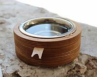 Миска-годівниця металева by smartwood для кішок котів кошенят - 1 миска 450 мл