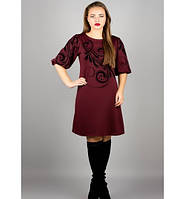 Платье Каролина бордо р.46-52