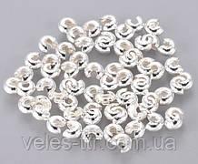 Кришка Кримпов (стоперів) Срібло 3 мм 10 шт