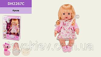 Лялька опції DH2267C(24шт 2)п'є-піс,пляшечка,пустушка,в кор.26*11*36см,р-р іграшки – 30 см