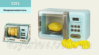 Микроволновая печь 3251 (24шт|2) звук, свет, продукты меняют цвет при нагреве, р-р игрушки – 24*14*1
