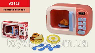Мікрохвильова піч AZ123 (24шт|2) світло-звук,обертається тарілка,продукти, р-р іграшки– 23*12*15.2 см,