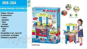"""Набор """"Кухня"""" 008-26A (8шт) посудка, приборы,плита, духовка,в кор.43,5*9*60см"""