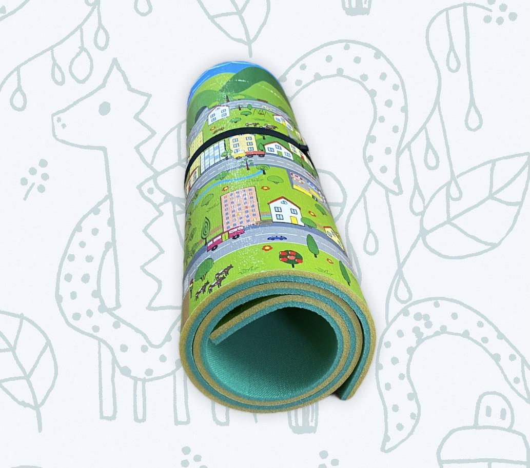 """Килимок дитячий «паркове місто"""", т. 8 мм, хім зшитий пінополіетилен, 120х300 див. Виробник Україна, TERMOIZOL®"""