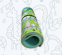 Коврик детский «Парковый город», т. 8 мм, хим сшитый пенополиэтилен, 120х300 см. Украина, TERMOIZOL®