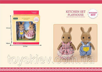 Тварини флоксовые G06 (72шт)Кролики,2 фігурки,в коробці 13,7*4,6*15,1 см
