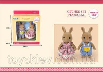 Животные флоксовые G06 (72шт)Кролики,2 фигурки,в коробке 13,7*4,6*15,1см