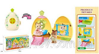 Животные флоксовые MBE18-7 (60шт|2) Домик-яйцо,фигурка, в коробке 29*15*7см