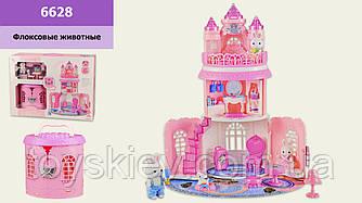 Игровой набор с флоксовыми животными 6628 (10шт)Замок, в наборе 2 фигурки, в коробке 51*17*38см, р-р