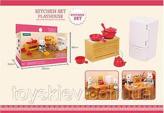 Меблі для флоксовых тварин B02 (120шт) Кухня меблі+посуд,|фігурки тварин в набір не входять