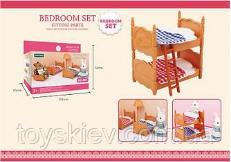 Меблі для флоксовых тварин B07 (120шт) 2-х ярусне ліжко, |фігурки тварин в набір не входячи