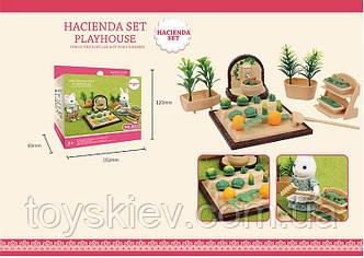 Мебель для флоксовых животных  B12 (120шт|2)  огород, |фигурки животных  в набор не входят|, в короб