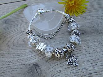 Женский браслет в стиле Пандора PANDORA метелик