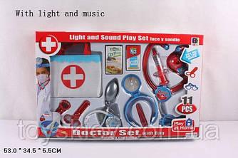 Доктор 661-203|204 (18 шт) 2 види, з сумочкою, світло, звук, в коробці 53*34,5*5,5 см