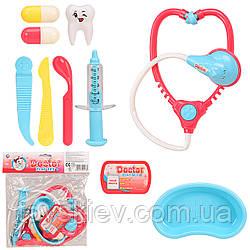 Доктор 938-6 (1990293) (108шт|2)стетоскоп,шприц,зуб,аксесуари,в пакеті 21.5*26 см