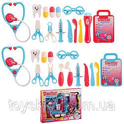Доктор 999-2A|6A (1990277/81) (48шт|2) 2 види,стетоскоп,шприц,зуб,ножиці,аксесуари,в кор. 39*5*30