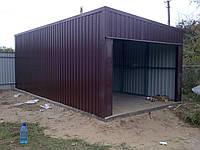 Деревянно металлический гараж