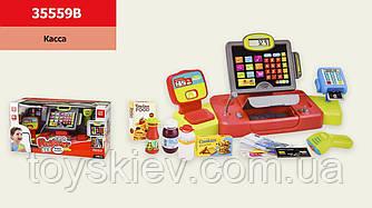 Кассовый аппарат 35559B (6шт) сканер,микрофон,продукты,в кор.48,5*18*25,5 см, р-р игрушки – 44*17*20