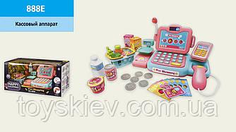 Кассовый аппарат 888E (18шт)с распознаванием речи, калькулятор, продукты,свет,звук,р-р игрушки-26*13