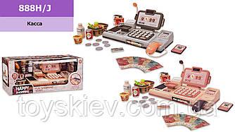 Кассовый аппарат 888H J(1963828)(12шт 2)2 цвета-микс в ящике,звук,микрофон,калькулятор,продукты,в ко