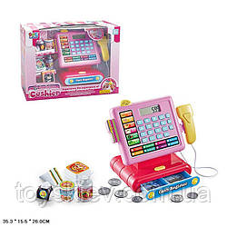 Касовий апарат 16829A (12шт) світло,звук,калькулятор,скані,монетки,продукти,в кор.35,3*15,5*26 см