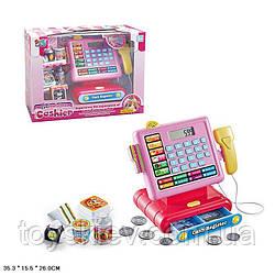 Кассовый аппарат 16829A (12шт) свет,звук,калькулятор,скане,монетки,продукты,в кор.35,3*15,5*26 см