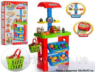 """Набір """"Магазин"""" 661-79 (6шт) каса,ваги,кошик,продукти, в кор.67*11.5*45.5 см, р-р іграшки – 53*34"""