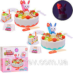"""Набір продуктів """"Торт"""" G672A (36шт) 2 кольори,світло,звук,на липучках,43предмета,в кор.17.5*6.5*16.5 см"""