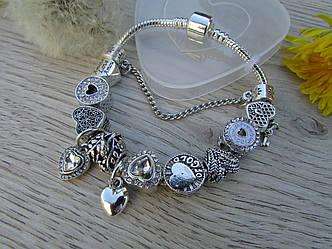 Женский браслет в стиле Пандора PANDORA квантум