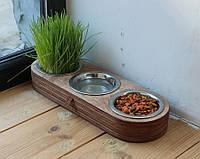 Миска-годівниця металева by smartwood для кішок котів кошенят XS - 3 миски (450 мл)