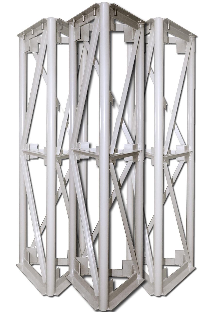 Мачта для дымохода треугольная  300 мм  1.5 м