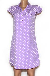 Літнє плаття сорочка короткий рукав (42,44,46,48)