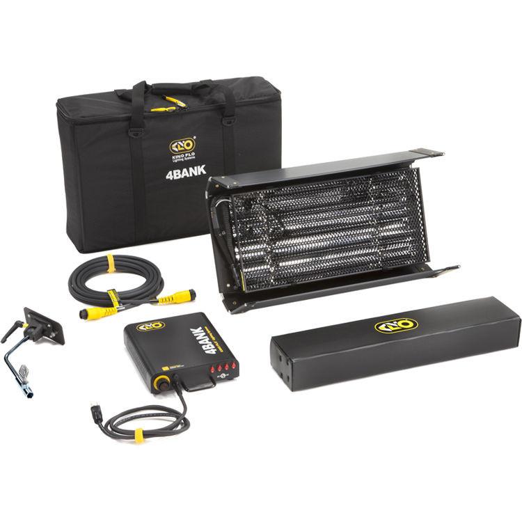 Kino Flo 2ft 4Bank Fixture Kit with Soft Case (KIT-244B-120U)