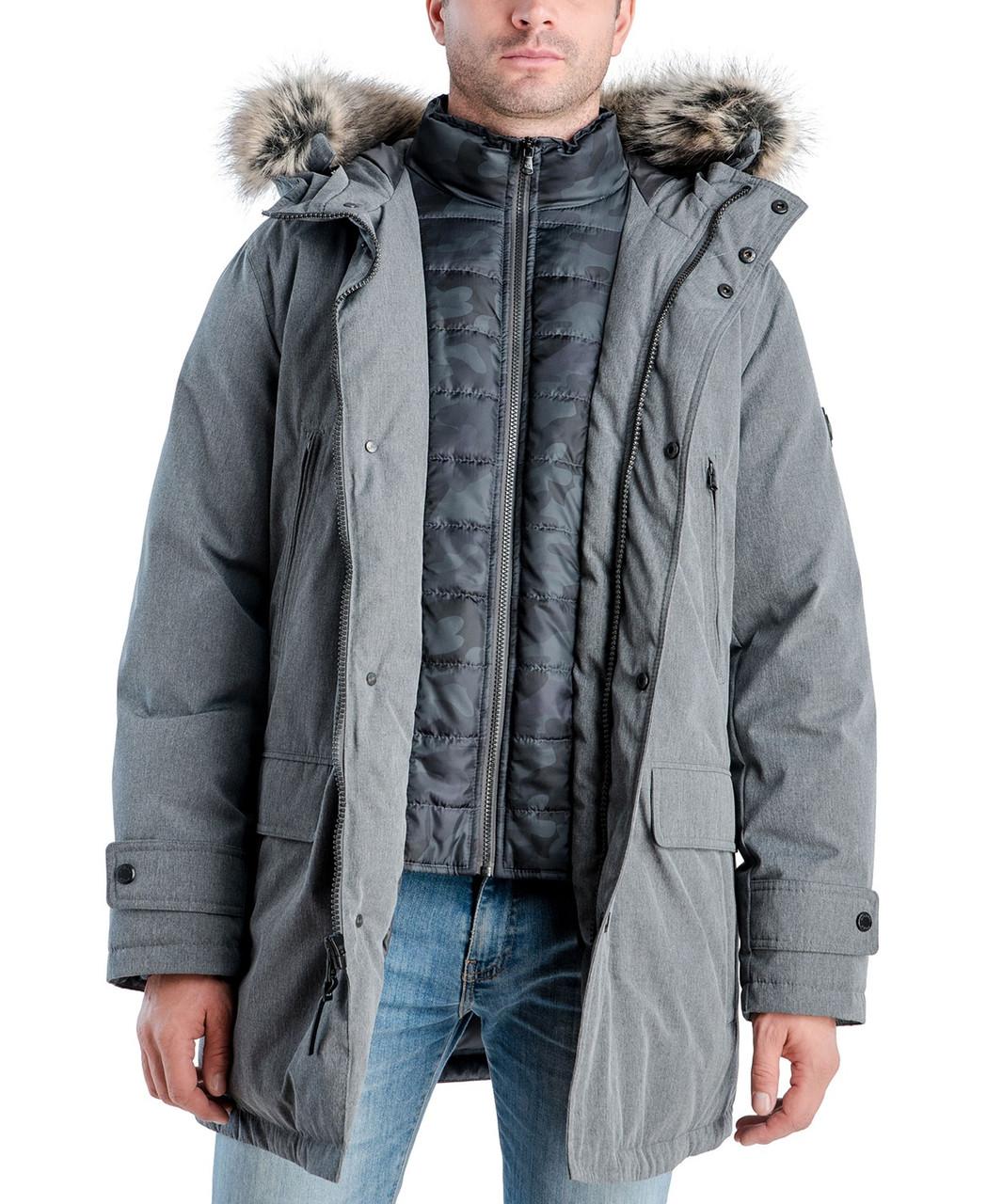 Очень Теплая зимняя мужская куртка парка Michael Kors Майкл Корс (Размер XL) Оригинал
