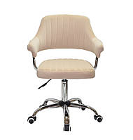 Кресло офисное JEFF CH- OFFICE бархат ,бежевый B-1017