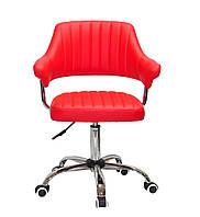 Кресло офисное JEFF CH- OFFICE эко кожа ,красный B-1007