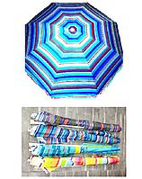 Пляжный зонт Пальма 2.5 м, спицы системы ромашка, с наклоном и напылением