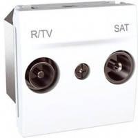 Розетка TV SAT Unica  белая. Цена розничная, оформляйте заказ и получите скидку!!!