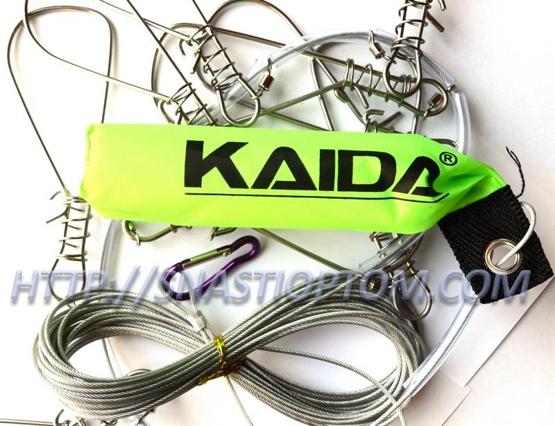 Кукан Kaida YS 510, с поплавком, 10 карабинов.