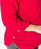 """Модна блузка з ангори з 52 до 68 розміру """"Алесся гранатова"""", фото 4"""
