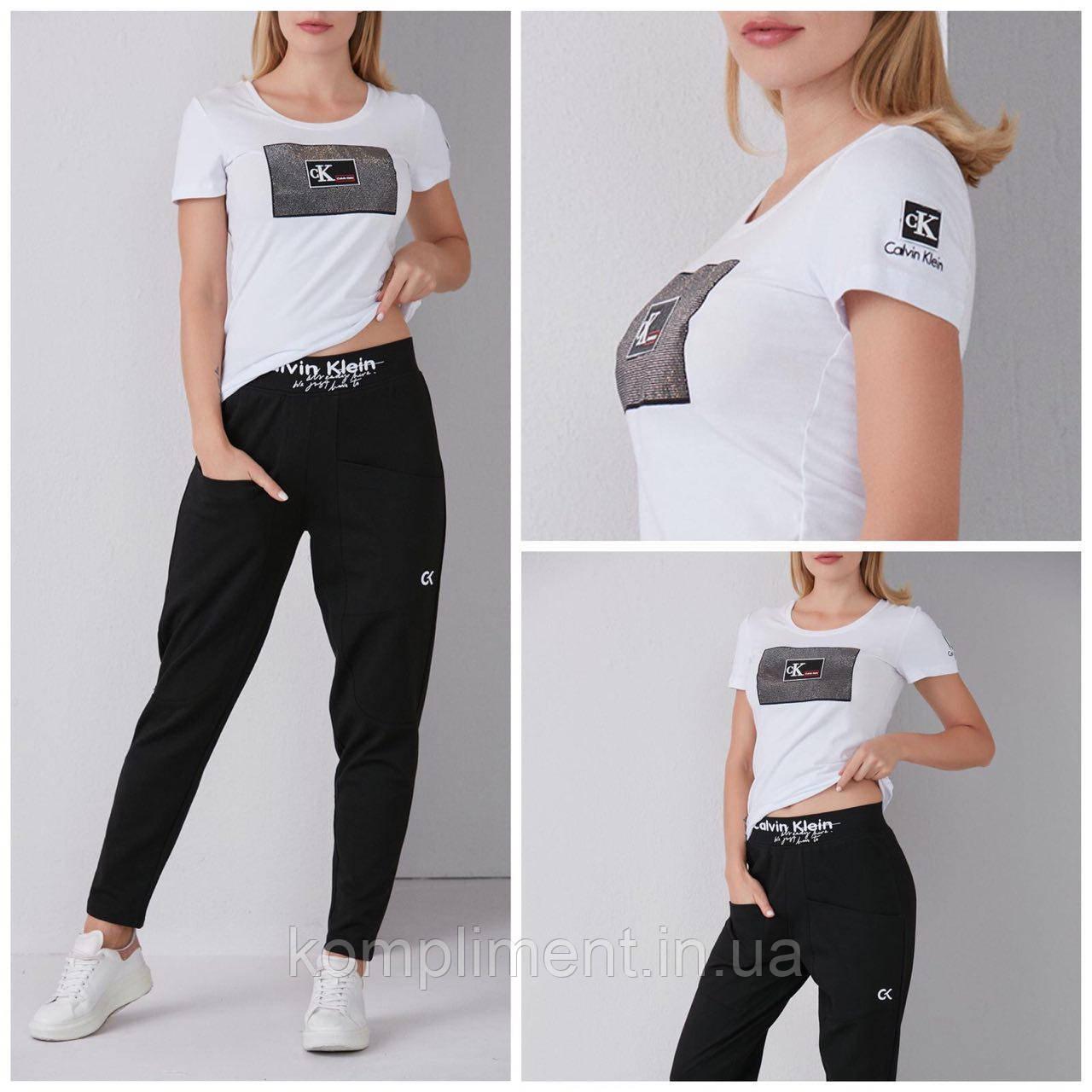 Женская модная хлопковая турецкая футболка с надписью из камней, FP 2098