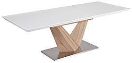 Стол обеденный Signal Мебель Alaras 90220 х 75 см Белый ALARAS, КОД: 1553351